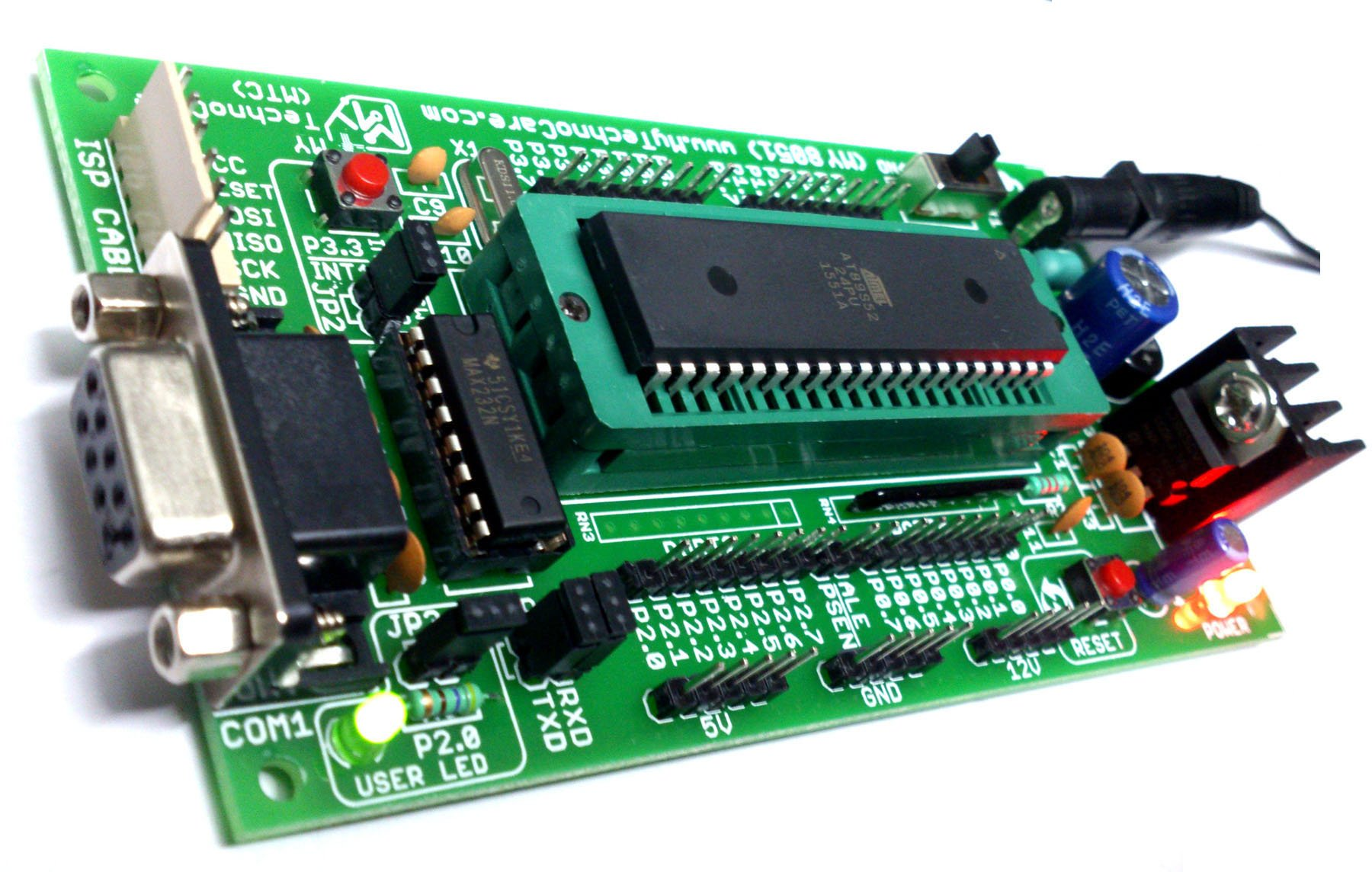8051 microcontroller board with zif socket 8051 kit my technocare