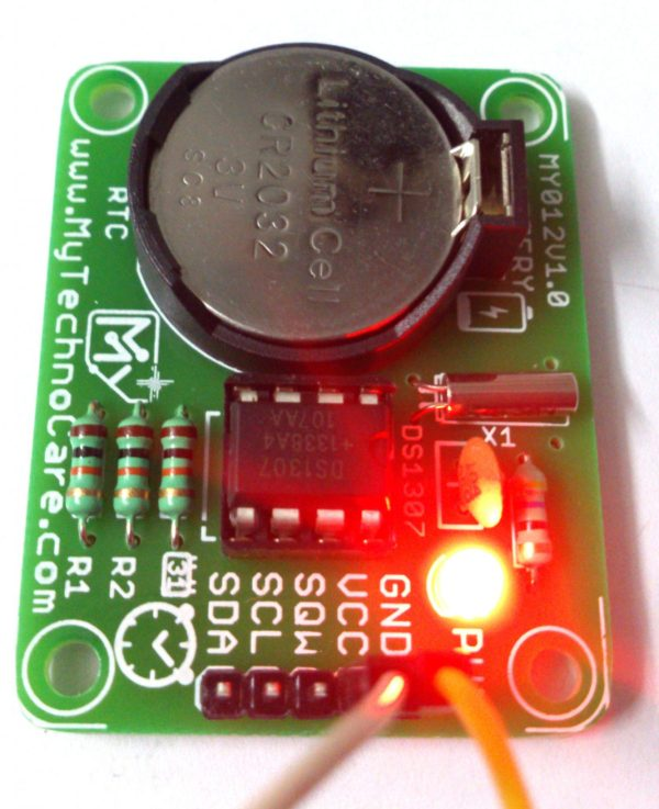 DS1307 Real Time Clock Module (RTC) I2C IIC | Free Battery,IIC I2C RTC DS1307 | 56 Byte NV RAM | Battery Backup | Project R&D,alarm, calendar, Clock, date, DS1307, Real Time Clock, rtc, time, Timer MY TechnoCare www.MyTechnoCare.com