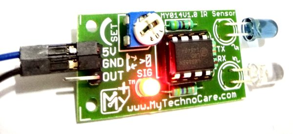 IR Sensor Proximity/Obstacle Detection Avoidance Sensor Module Board For Interfacing with Arduino 8051 AVR PIC ARM Raspberry Pi & All Micro-cotrollers.Use in Home,office,Industrial Automation IoT Research & Development,DIY Student Project Hobby R&D MY TechnoCare www.MyTechnoCare.com