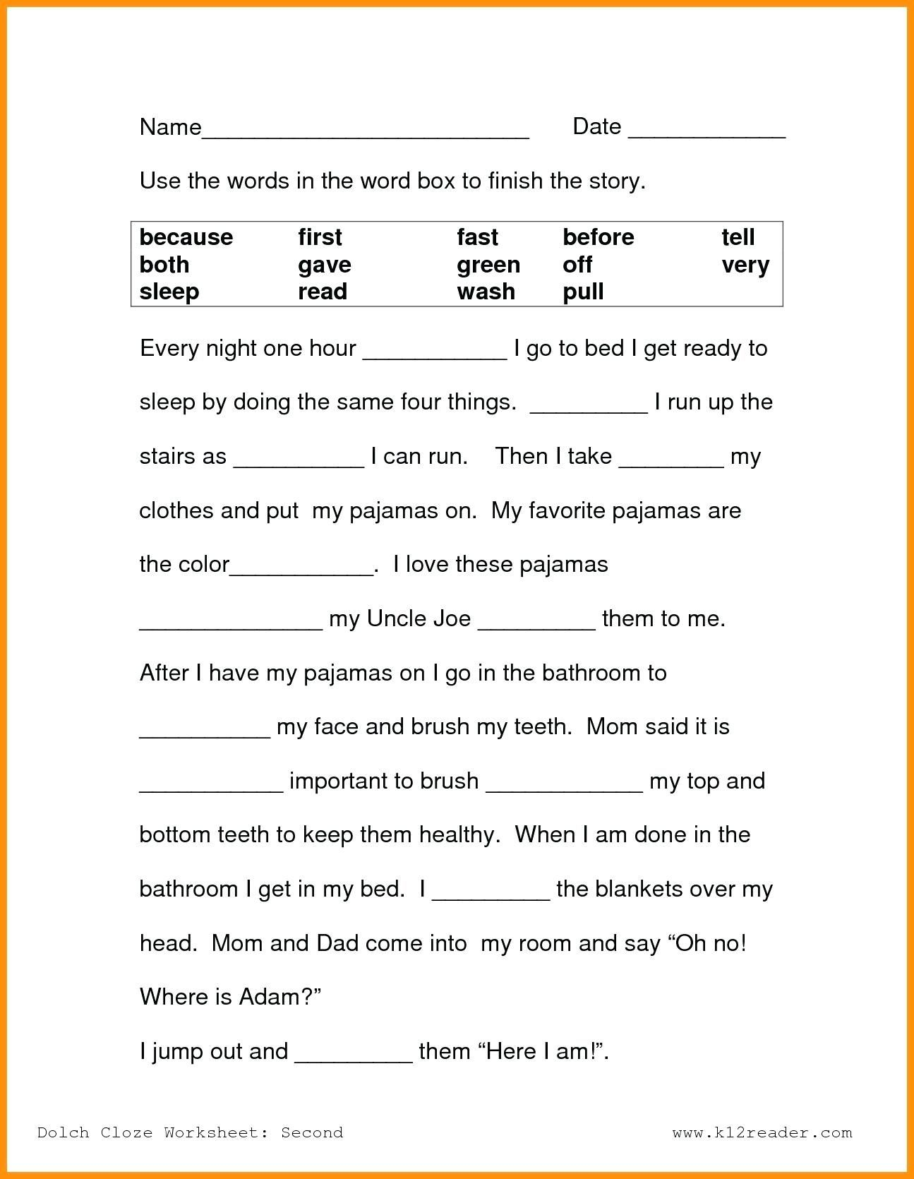 - 9 1st Grade Reading Worksheets - Free Templates