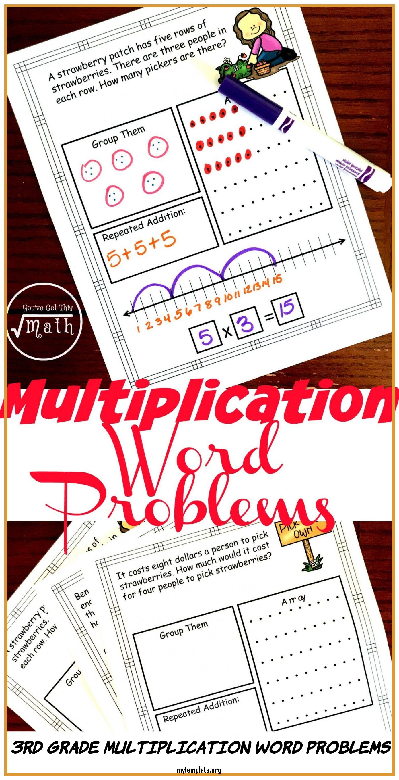 3rd Grade Multiplication Word Problems Of Free Interactive