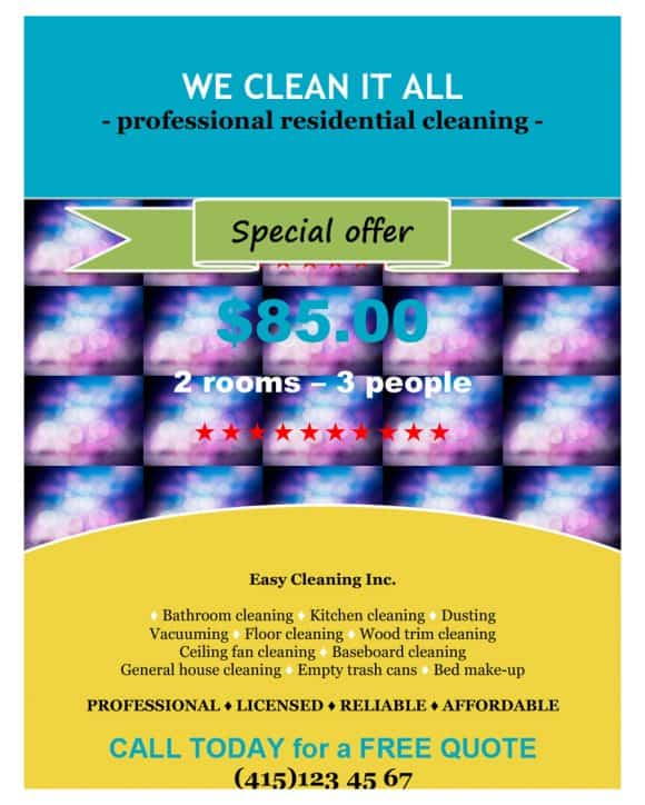 CLEANING BUSINESS FLYERS