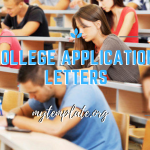 College Application Letters Template