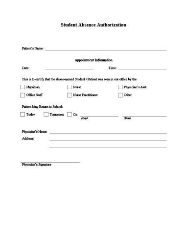 10 Doctors Note Excuse Templates Word Pdf File
