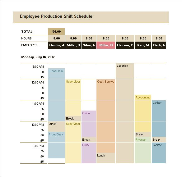 Download Weekly Production Schedule Template Excel Format