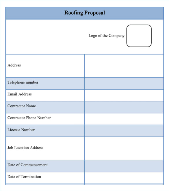 Download the Roofing Estimate Proposal Template