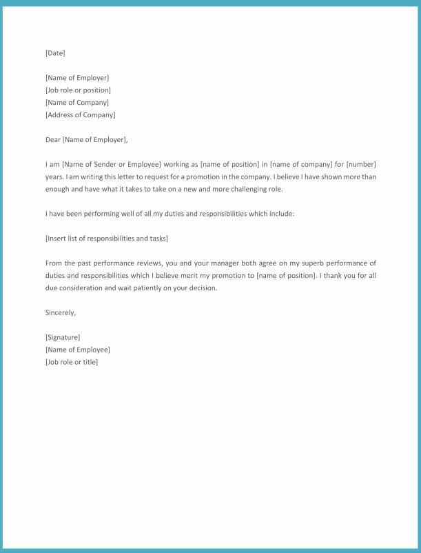 Employee Promotion Letter Format