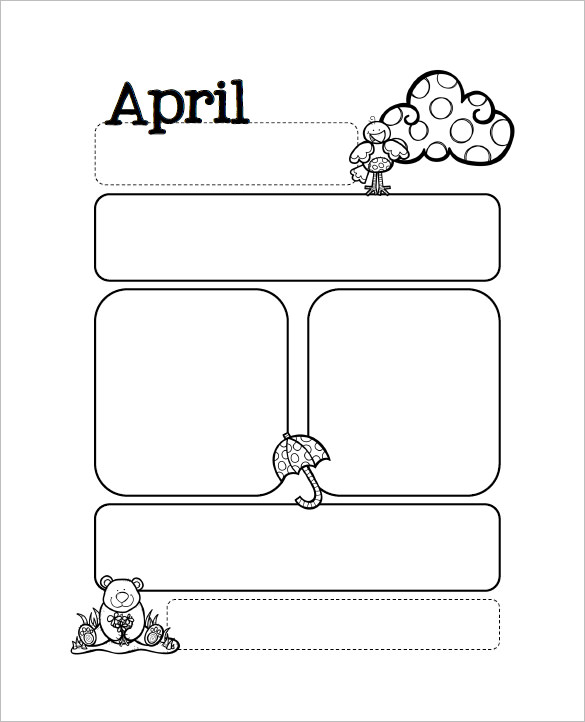 Free April Month Preschool Newsletter