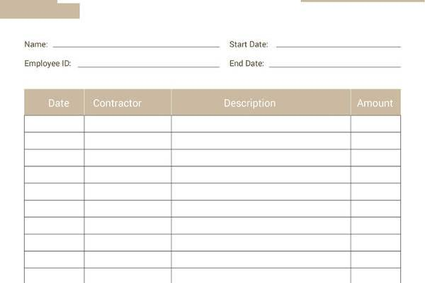 Free Construction Expense Report