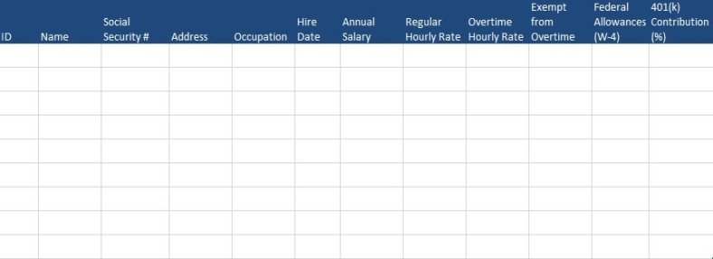 Payroll Tracker Excel Template