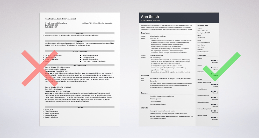 Best Administrative Assistant Resume Examples 2021