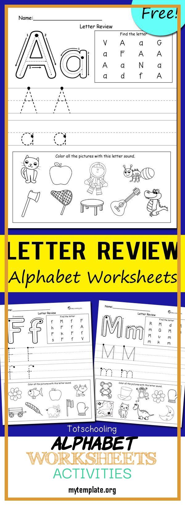 6 Alphabet Worksheets Activities - Free Templates