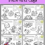 Alphabet Worksheets English Of Free Alphabet Trace and Color