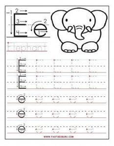 Alphabet Worksheets for Kids Tracing Letters Of Printable Letter E Tracing Worksheets for Preschool Printable Coloring Pages for Kids
