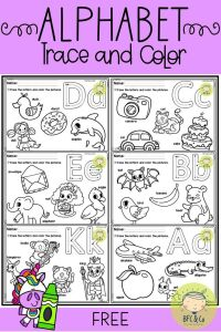Alphabet Worksheets Ideas Of Free Alphabet Trace and Color