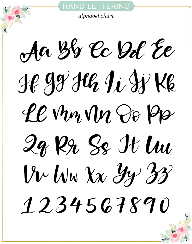 Free Calligraphy Worksheets
