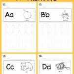 Alphabet Worksheets with Words Of Download Free Alphabet Tracing Worksheets for Letter A to Z Suitable for Preschool Pre K or Kindergarten Class there are Two Layouts Available Tracing with Lines or Free form Tracing with Boxes Visit Us at for More Preschool Activities