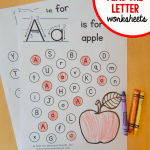 """Alphabet Worksheets with Words Of Free """"find the Letter"""" Alphabet Worksheets the Measured Mom"""