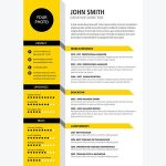 Architecture Resume Design Creative Cv Of Creative Cv Resume Template Yellow Color if You Like This Design Check Others On My Cv Template Board Thanks for Sharing
