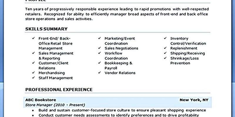 Assistant Manager Resume Examples Of Reveal the Secrets Of Having the Best Retail Manager Resume