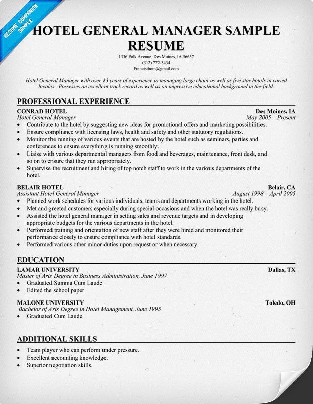 Hotel General Manager Resume resume panion Resume Samples Across All Industries Wonderful Hotel General Manager Resume resume panion Resume Samples Across All Industries Resume Format In Word For Hotel Management Fresher It is well known that Hotel General Manager Resume resume panion Resume Samples Across All Industries are most important documents when you are searching for the job opportunities in any pany Before appearing for the interview you must send the curric