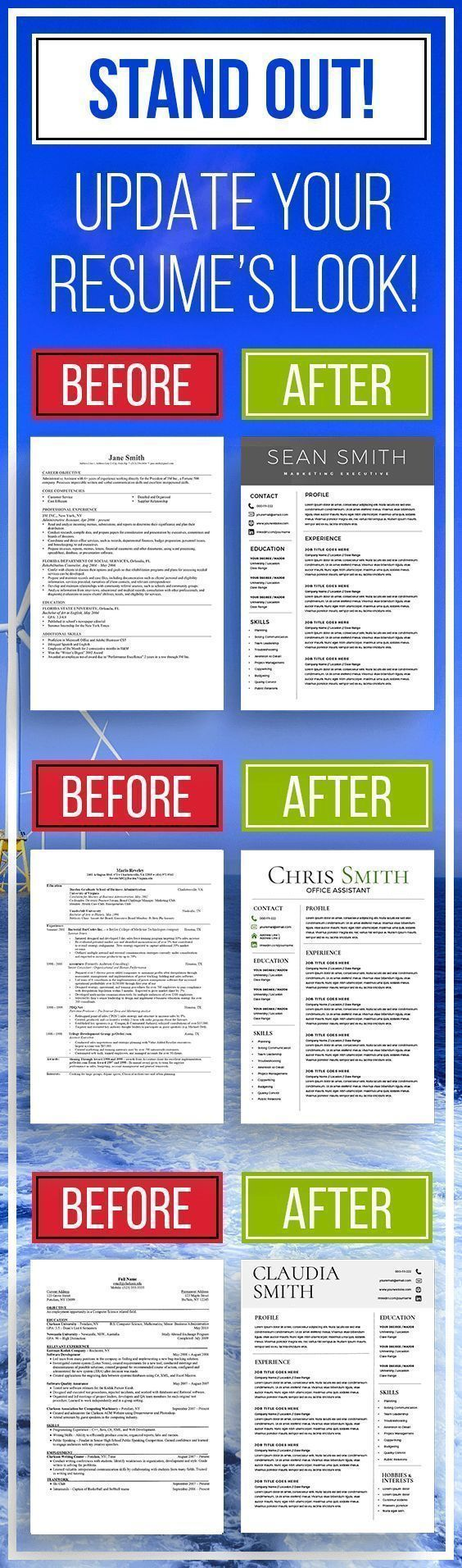 Professional Resume Templates Modern Resume Templates by Kingdom Designs