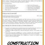 Construction Manager Resume Examples Of Construction Manager