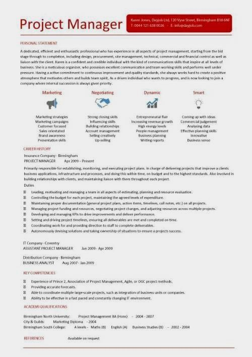 Free Project Manager Resume Templates Word PDF