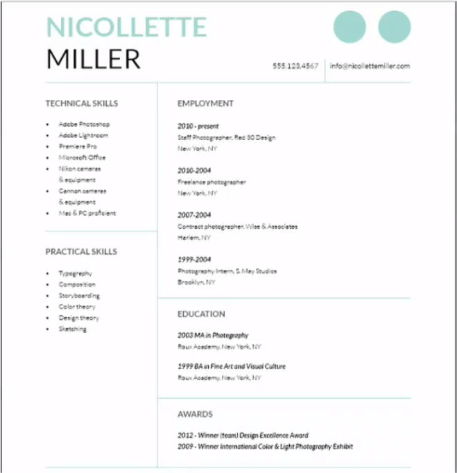 Cover Letter using InDesign