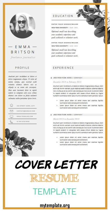 7 Cover Letter Resume Template Free Templates