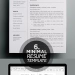 Cover Letter Template Job Seekers Of 25 Best Minimalism Resume Templates 2018