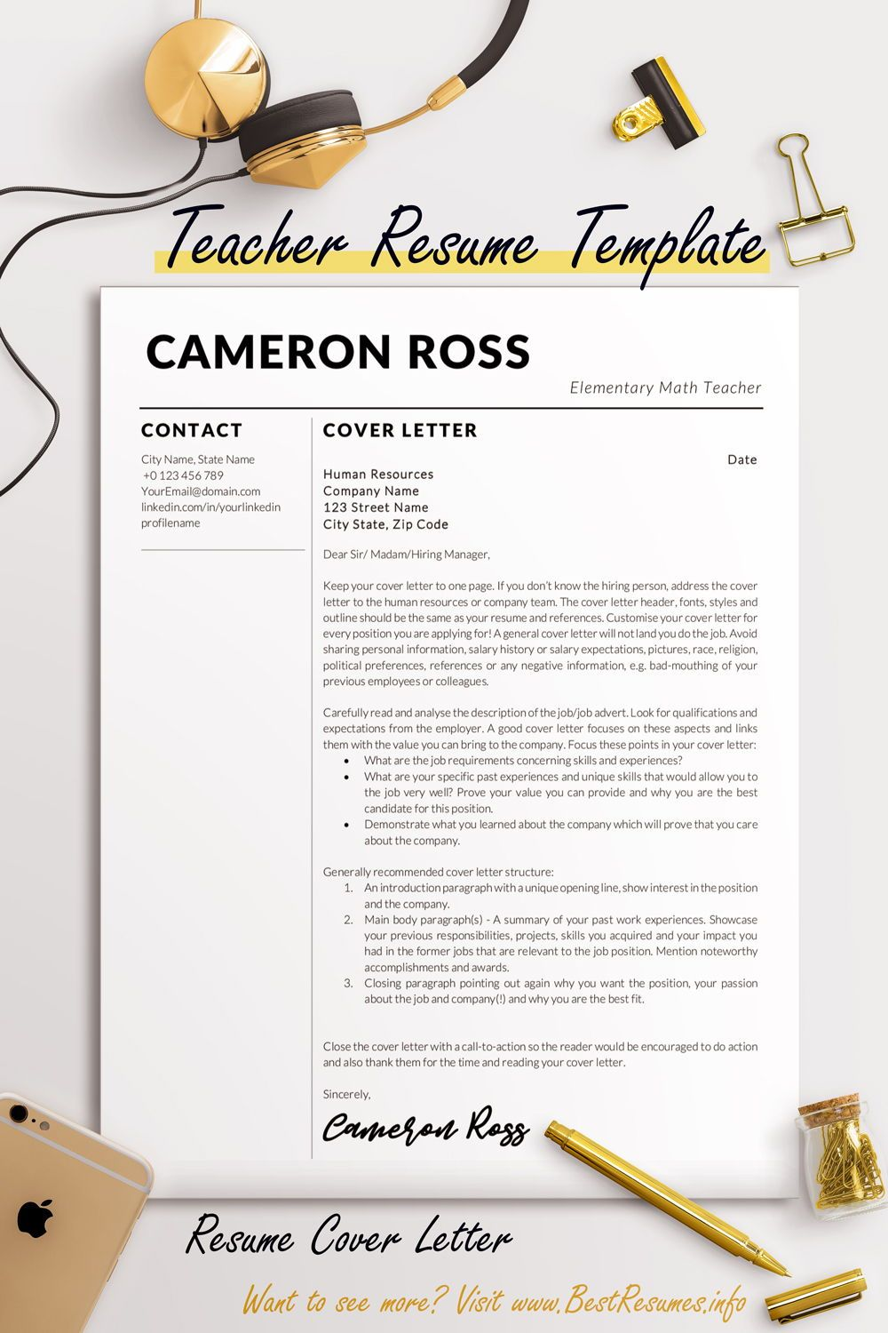 Cover Letter Template Layout Microsoft Word Of Teacher ...