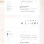 Cover Letter Template No Experience Of New Cv Template Resume Template Minimalist Professional Cv Design Resume Template Instant Download Word