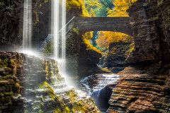 Watkins Glen State Park Waterfall Canyon In Upstate New York Wall Mural Nature Landscapes Themed Premium Canvas Wall Art Standard Peel & Stick
