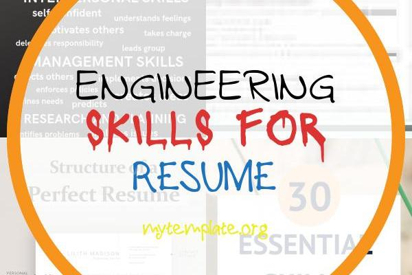 Engineering Skills for Resume Of 35 Phrases that Will Improve Your Resume