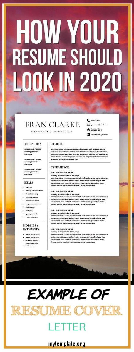 10 Example Of Resume Cover Letter Free Templates