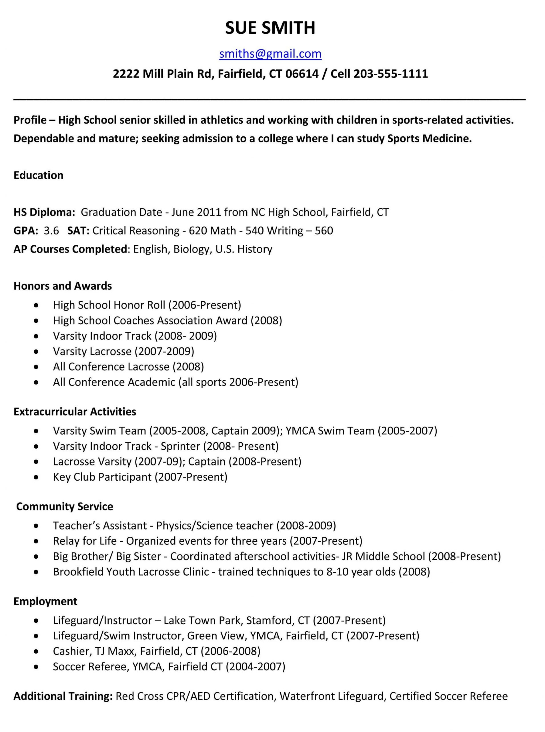 example resume for high school students for college applications school resume templateregularmidwesterners
