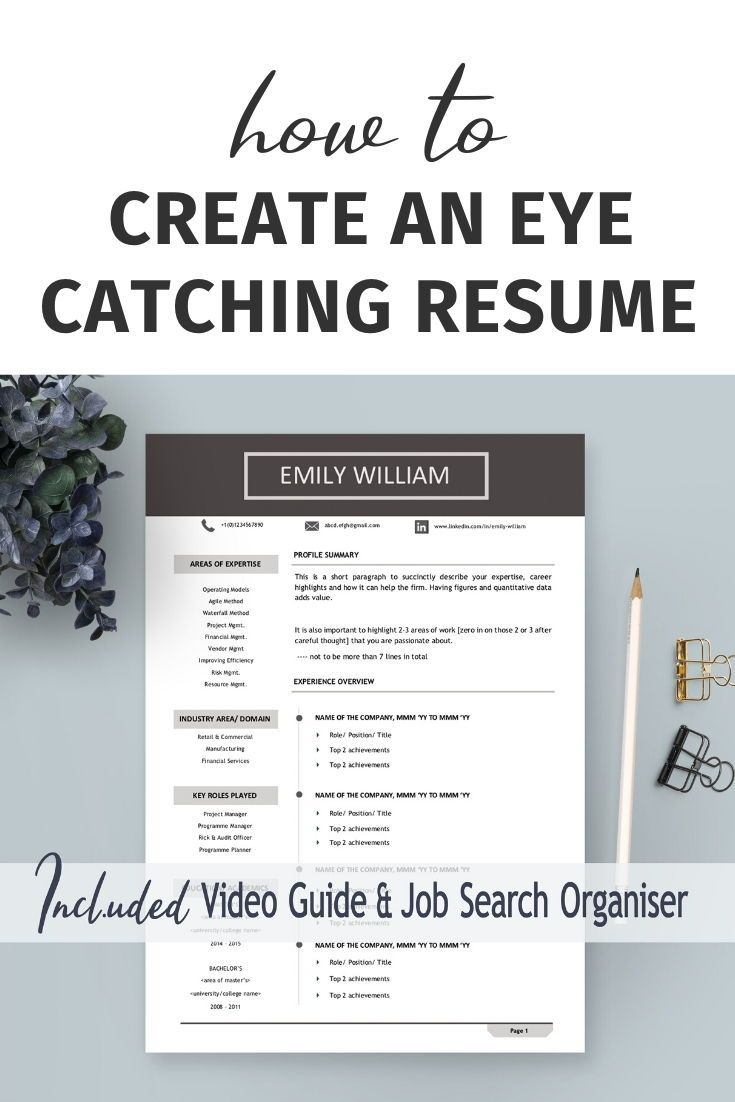 Executive resume template professional Minimal resume one page Modern resume service CV template