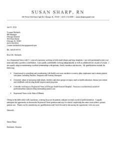Experienced Nursing Resume Examples Of Nurse Cover Letter