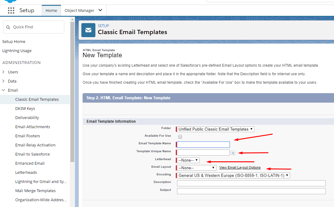 field this form email template