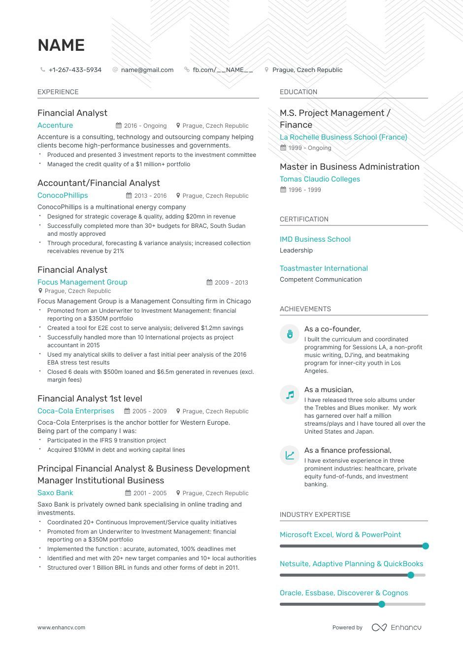 Entry Level Financial Analyst Resume Ultimate Writing Guide