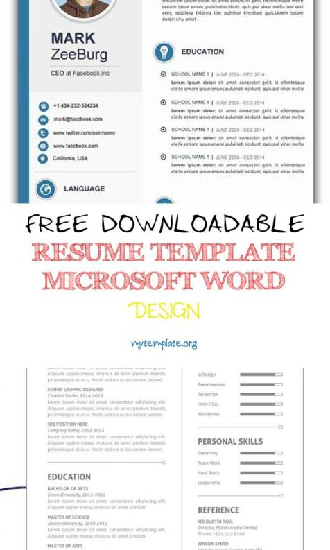 free downloadable resume template microsoft word design of