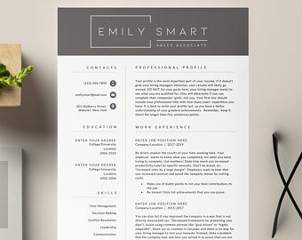 4 page Resume Template Cover Letter and References Template for MS Word DIY Printable Modern Resume Resume Guide Writing Tips