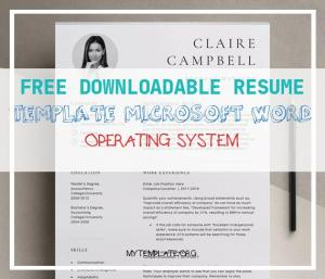 Free Downloadable Resume Template Microsoft Word Operating System Of Instant Download Resume Template with Downloadable Executive Resume Template Modern Resume Teacher Resume Cv Template Nurse Resume