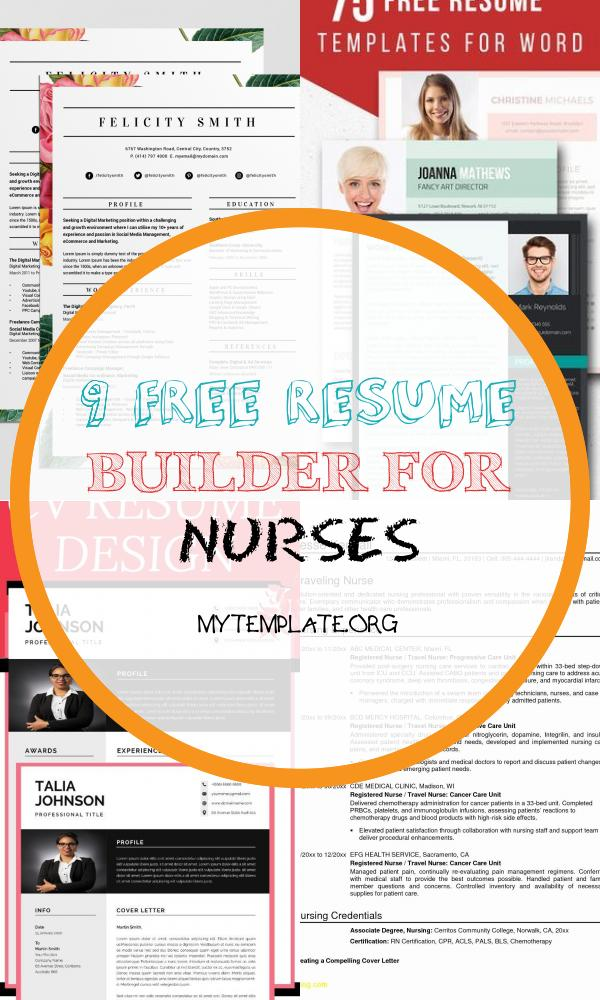 9 Free Resume Builder For Nurses Free Templates