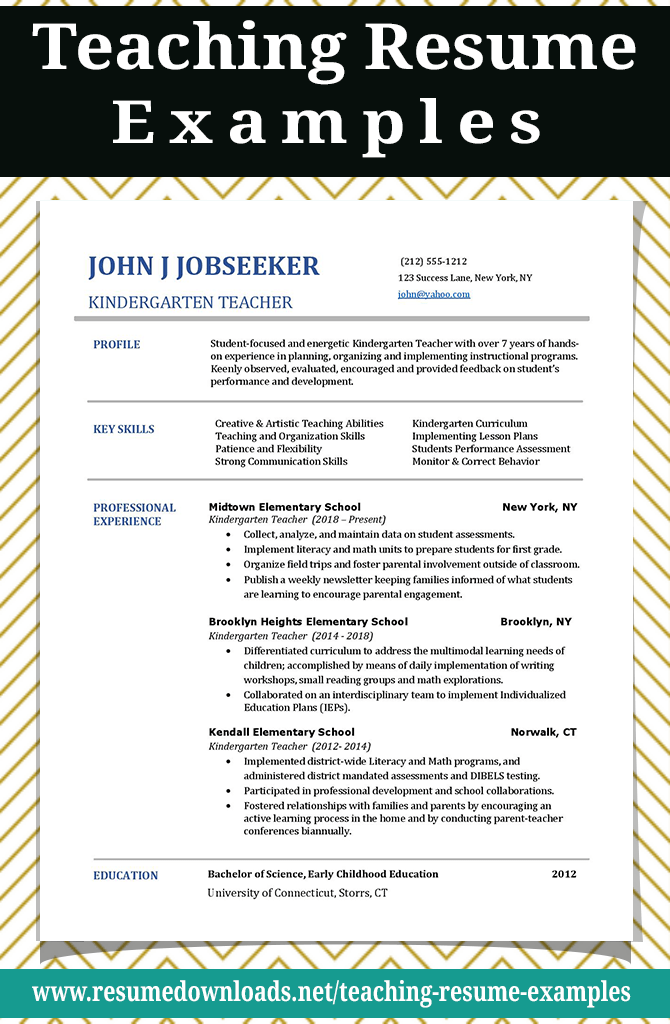 Teaching resume examples that will help you stand out from other candidates We have resume examples for kindergarten teachers elementary teachers middle school teachers and high school teachers plus cover letters Teachingresumeexamples Teachingresumesample Teachingresumetemplate Teachingresumeobjective Teachingresumeskills Teachingresumecoverletter ElementarySchoolTeacherResumeSample