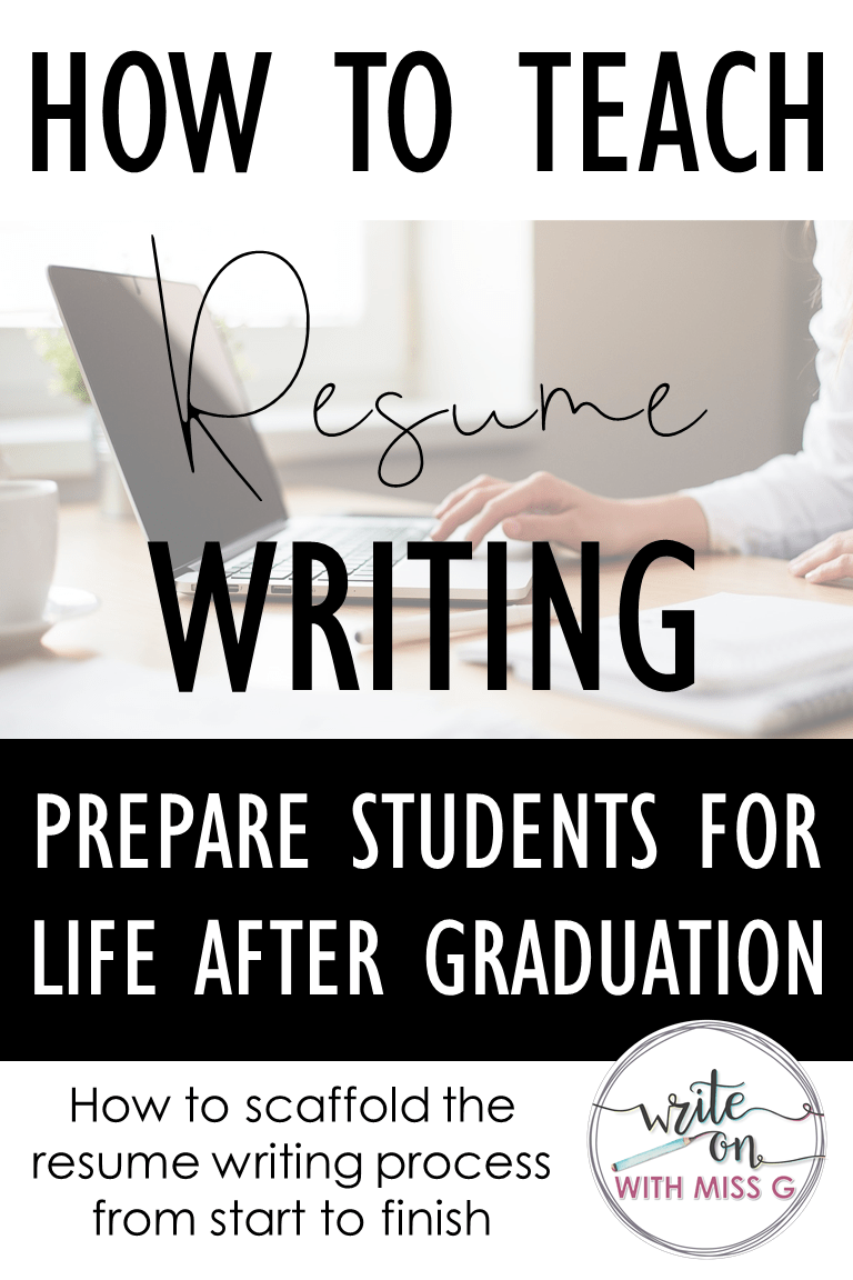 How to teach resume writing How to teach resume writing to high school students