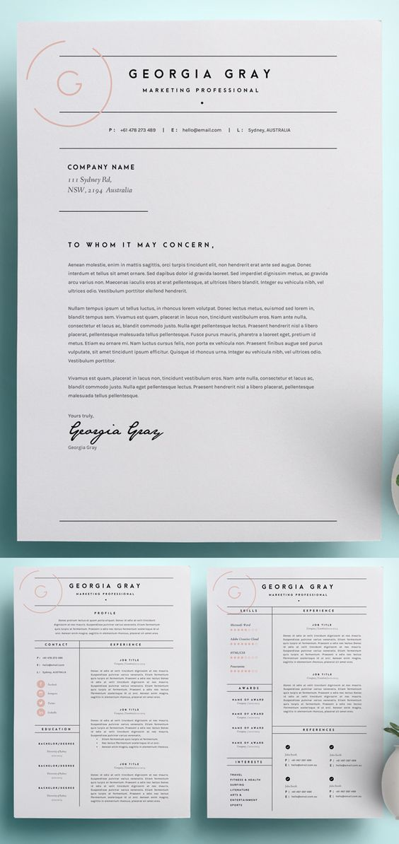 Creating a cover letter for resume