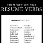 how to wow with your resume verbs