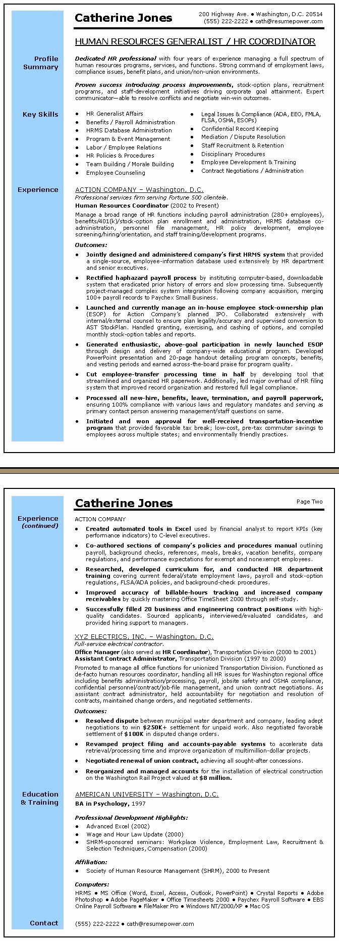 9 Human Resource Resume Objective Free Templates